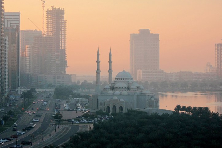 Khaleed Lagoon in the evening, Sharjah