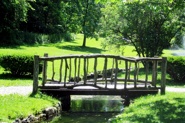 Rustic Bridge at Congress Park