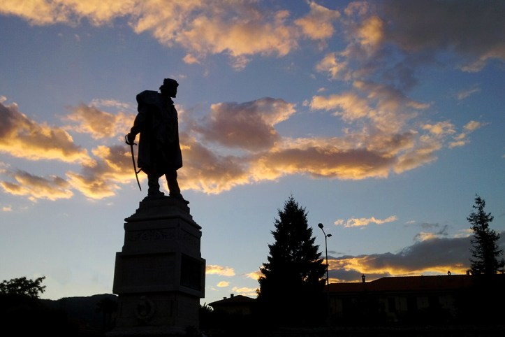 Giuseppe Garibaldi at Piazza Vittoria, Como