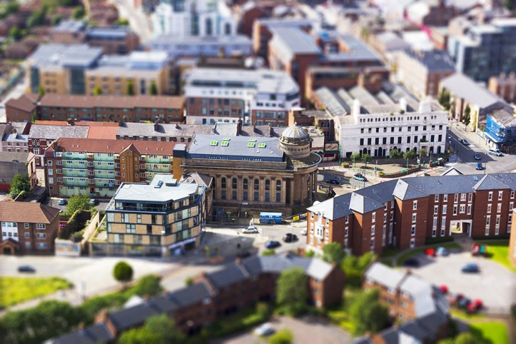 View from the Liverpool Cathedral, Tilt-Shift photography