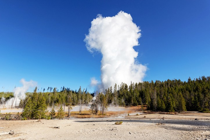 Steamboat Geyser, Yellowstone National Park