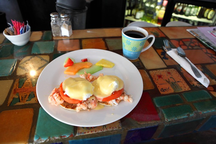 Lobster Bbedict at Blue Heaven, Key West