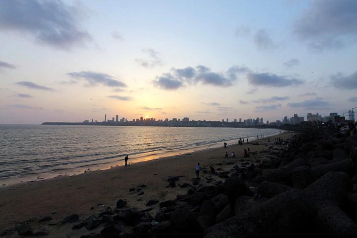 Mumbai skyline from Chowpatty, Mumbai