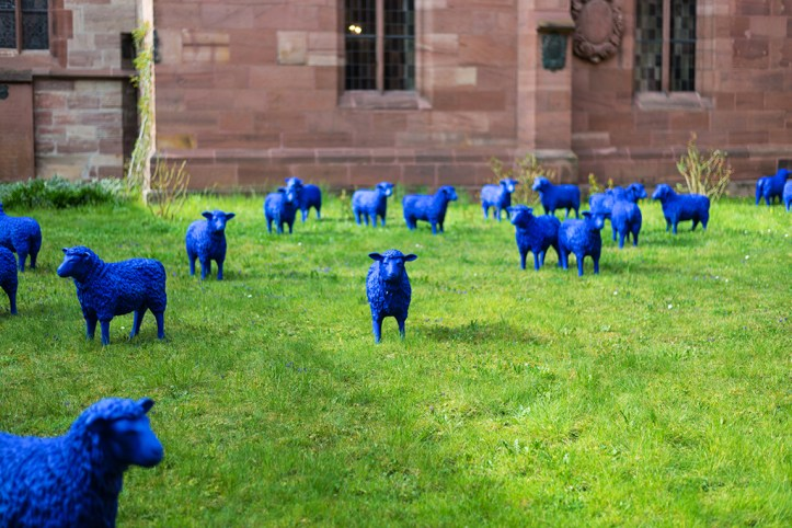 Blue sheep in the Basel Minster