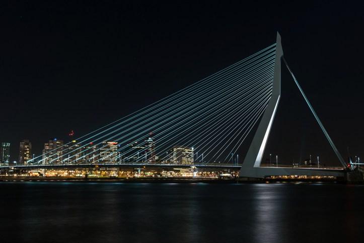 Erasmusbrug at night, Rotterdam