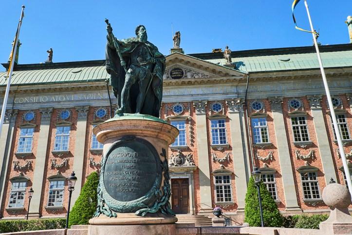 Statue of Gustav Vasa in font of the Riddarhuset, Stockholm