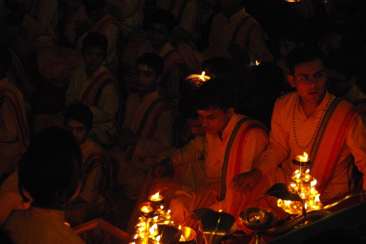 Worshiping the River Ganges in Rishikesh