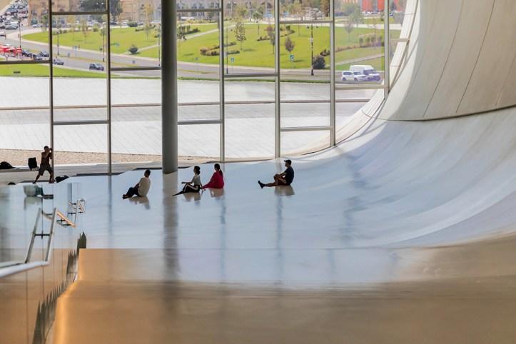 Inside Heydar Aliyev Centre, Baku
