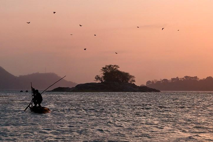 Sunset at Brahmaputra River, Guwahati