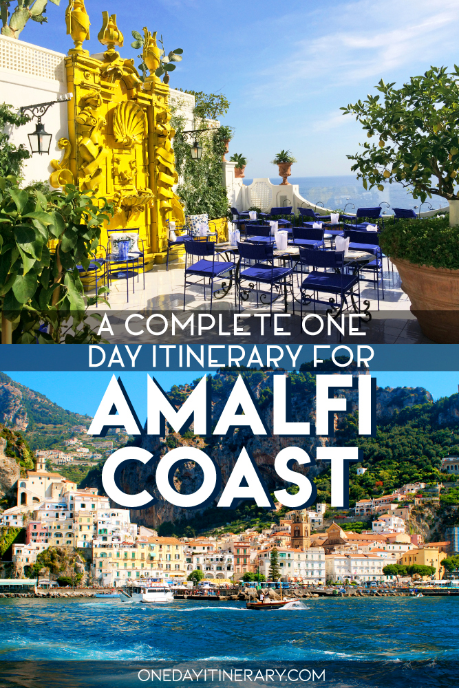 A complete one day itinerary for Amalfi Coast