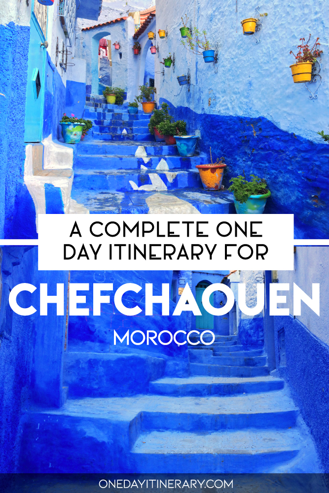 A complete one day itinerary for Chefchaouen, Morocco