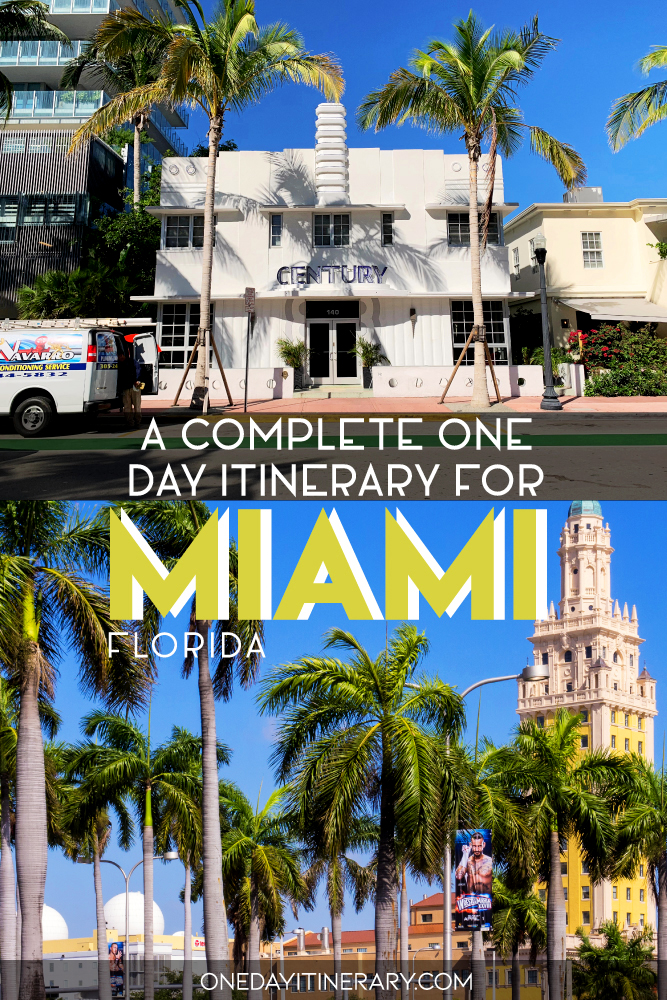 A complete one day itinerary for Miami, Florida
