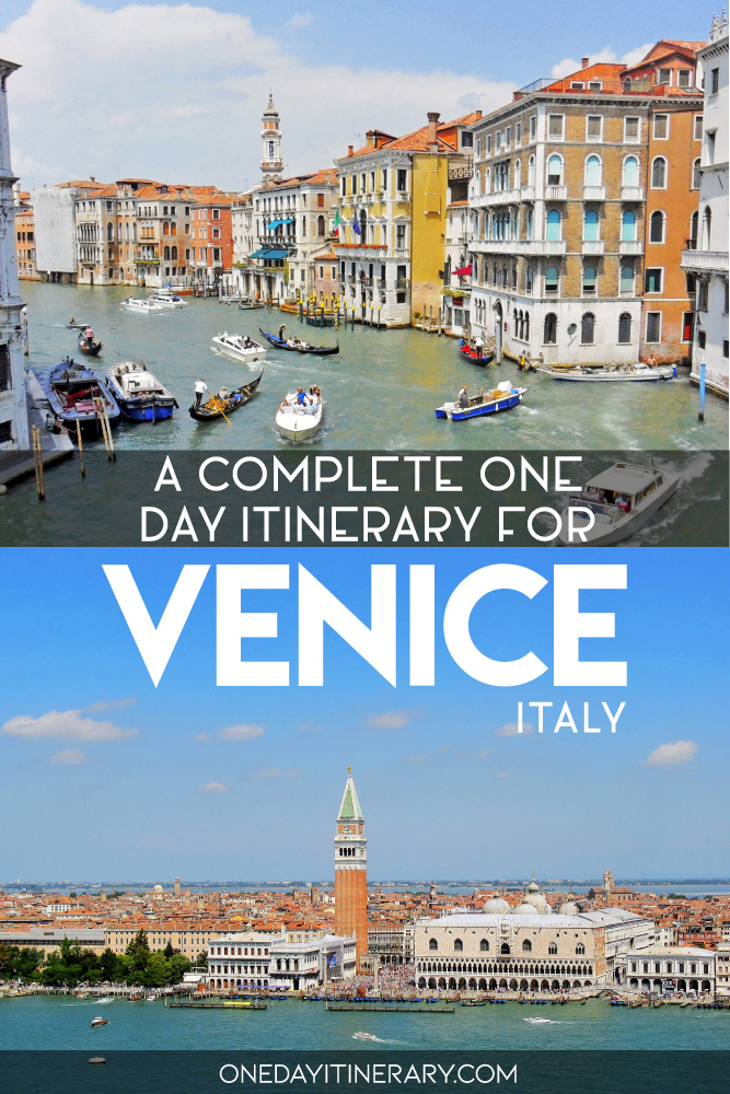 A complete one day itinerary for Venice, Italy