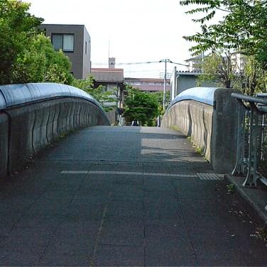 平台くりのみ公園を下って、大通りを橋でわたる(標高43m)