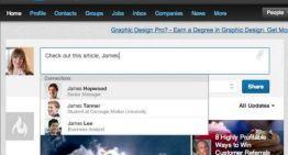 LinkedIn agrega menciones a conexiones sociales y empresariales en las conversaciones