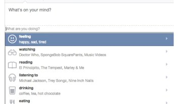 """Facebook renueva la función """"qué estamos haciendo"""" dentro de nuestros perfiles"""
