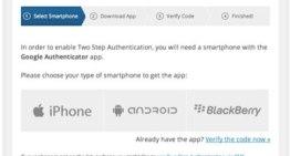 WordPress.com añade opción para autenticación de 2 factores