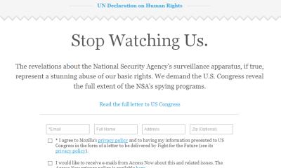 Stop Watching Us