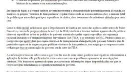 Empresas mandan carta al gobierno norteamericano solicitando más transparencia