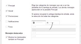 Tips y Trucos: Desactiva las nuevas categorías de la bandeja de entrada de Gmail