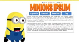 MI Villano Favorito Minions ipsum, el generador de texto en el idioma de los minions