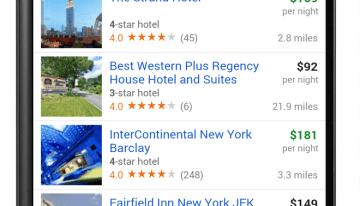 Hotel Finder de Google ya es accesible desde cualquier smartphone