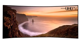 """Samsung da a conocer el primer televisor UHD más grande y curvo, de 105""""  #CES2014"""