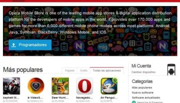 La tienda de aplicaciones de Opera ya ofrece más de 200000 aplicaciones para distintas plataformas móviles