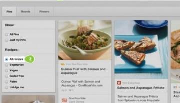 Pinterest presenta un buscador de platos y recetas de cocina