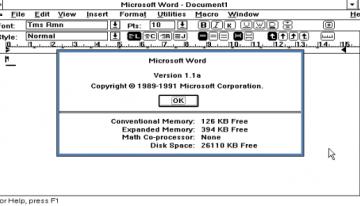 Microsoft libera el código fuente de MS-DOS 1.1 y 2.0, además de Word para Windows 1.1a