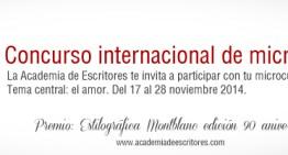 Academia de Escritores convoca al  2º Concurso Internacional de Microcuentos