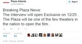 Sony estrenará la película The Interview el próximo 25 de Diciembre en algunos cines