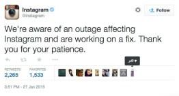 Facebook e Instagram sufren caída del servicio de casi 60 minutos