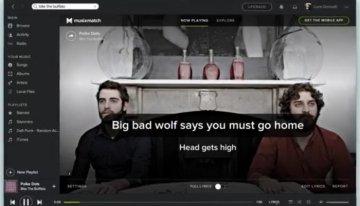 Spotify para escritorio ahora incorpora las letras de canciones de Musixmatch
