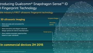 Sense ID, sensor con ultrasonido de huellas dactilares para móviles de Qualcomm #MWC15 #MWC2015