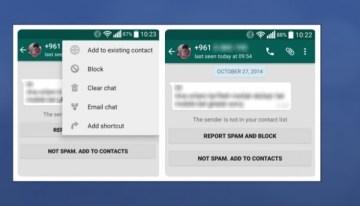 WhatsApp ya permite bloquear cuentas o indicar que es Spam