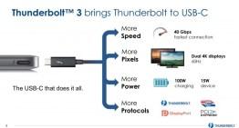 La siguiente generación de Thunderbold llega con USB-C y velocidades de transmisión de 40 Gbps