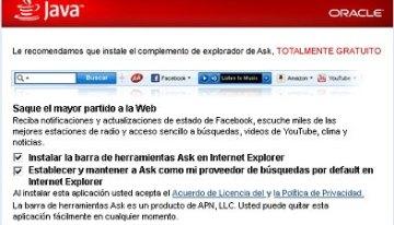 El sistema de seguridad de Windows bloqueará la Ask Toolbar por considerarla malware
