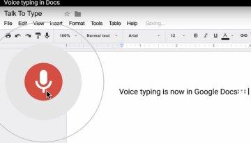 Google Docs ya permite crear, editar y dar formato a los textos mediante de la voz