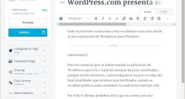WordPress.com presenta su nueva aplicación para Windows