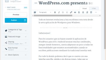WordPress.com presenta su nueva aplicación para Windows