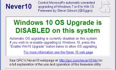 Never10, herramienta que evita que Windows 7 y Windows 8.1 se actualice a Windows 10