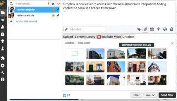 Hootsuite ya permite importar imágenes y archivos GIFs de servicios en la nube