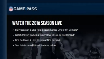 NFL Game Pass International estará disponible en México