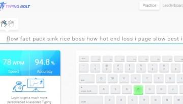 typingbolt, sistema de inteligencia artificial que nos ayuda a aprender mecanografía
