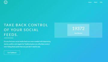 Sadblock, extensión de Chrome que ayuda a bloquear determinados contenidos de las redes sociales
