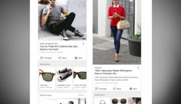 Al buscar imágenes en Google aparecerá una opción para adquirir artículos similares a los de los resultados obtenidos