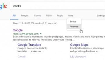 Google agrega una opción para búsquedas personales
