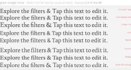 Better Google Font Finder, herramienta web para filtrar y comparar fácilmente las fuentes de Google basadas en sus características visuales.