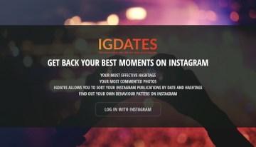 IGDates, herramienta que te permite ordenar las fotos de Instagram por fecha o hashtag